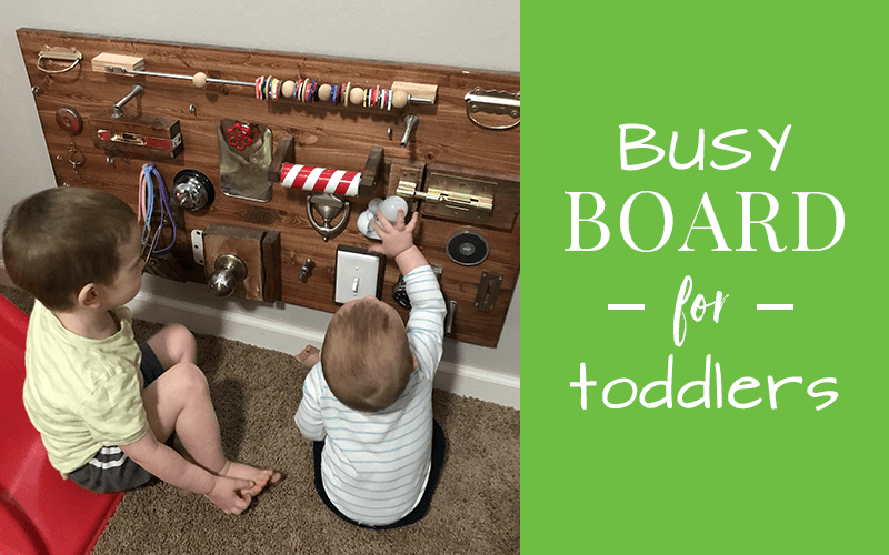 diy busy board for toddlers