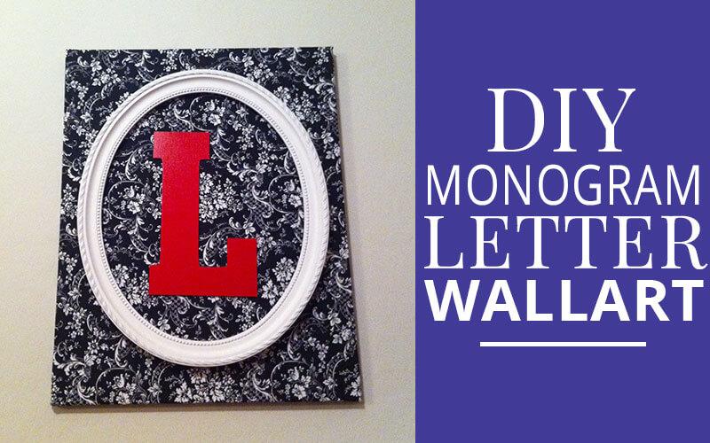 diy monogram letter wall art home decor