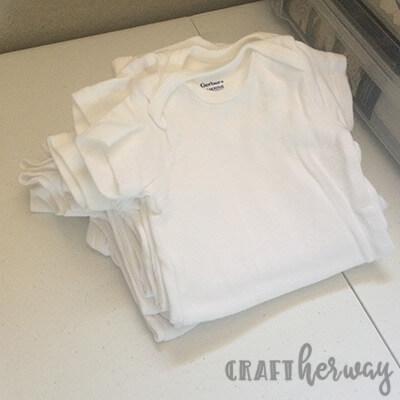 12 month onesies baby shower gift idea