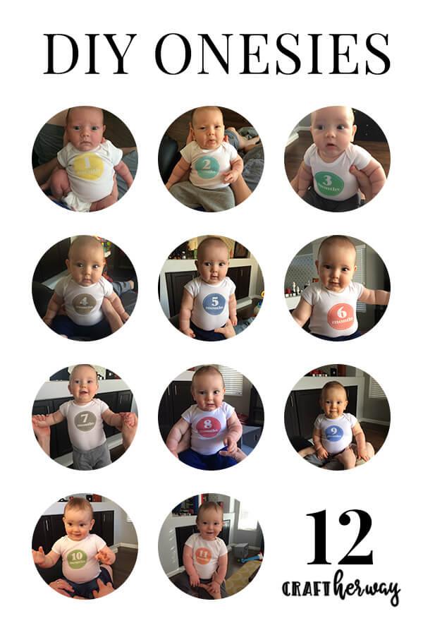 diy baby 12 month onesies
