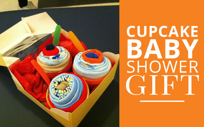 diy cupcake baby shower gift