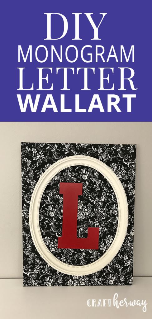diy monogram wall art canvas
