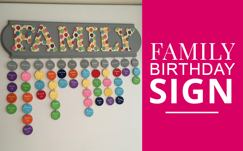 diy family birthday sign