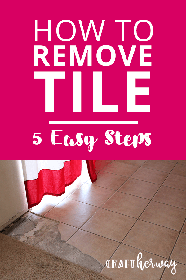 Learn how to remove tile
