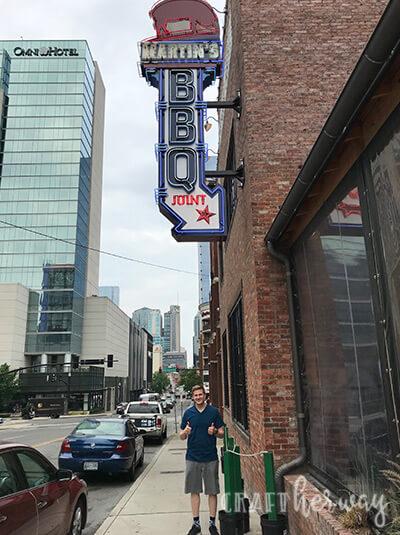outside martin's BBQ in Nashville