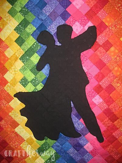 diy rainbow quilt