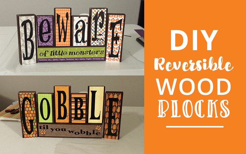 diy reversible halloween and thanksgiving craft