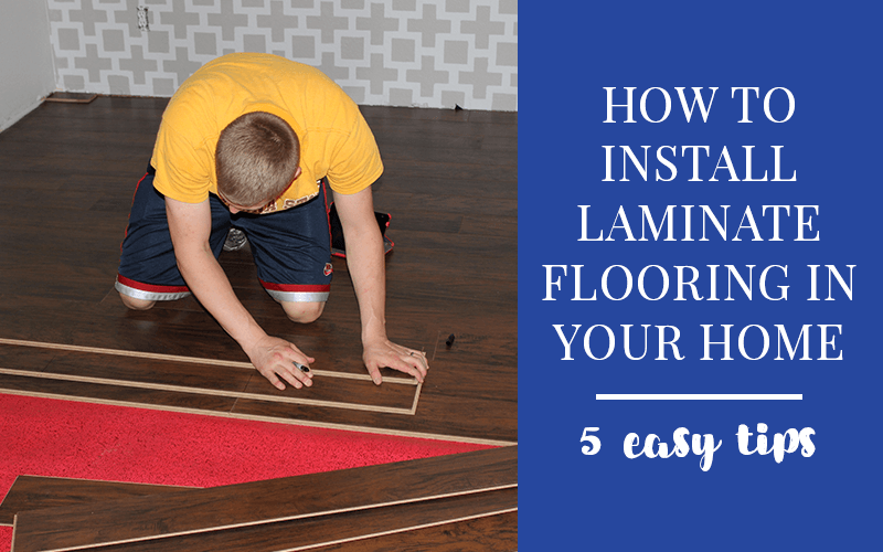 Check out these 5 tips on how to install laminate flooring in your home #homerenovation #homeremodel