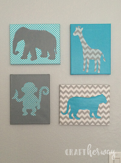 Diy Baby Nursery Wall Art Safari Themed Craft Her Way