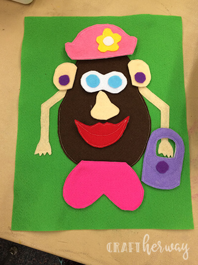 Mr Potato Head Quiet Book Page Tutorial