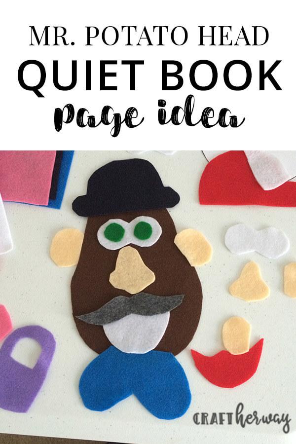 Mr Potato Head quiet book page idea