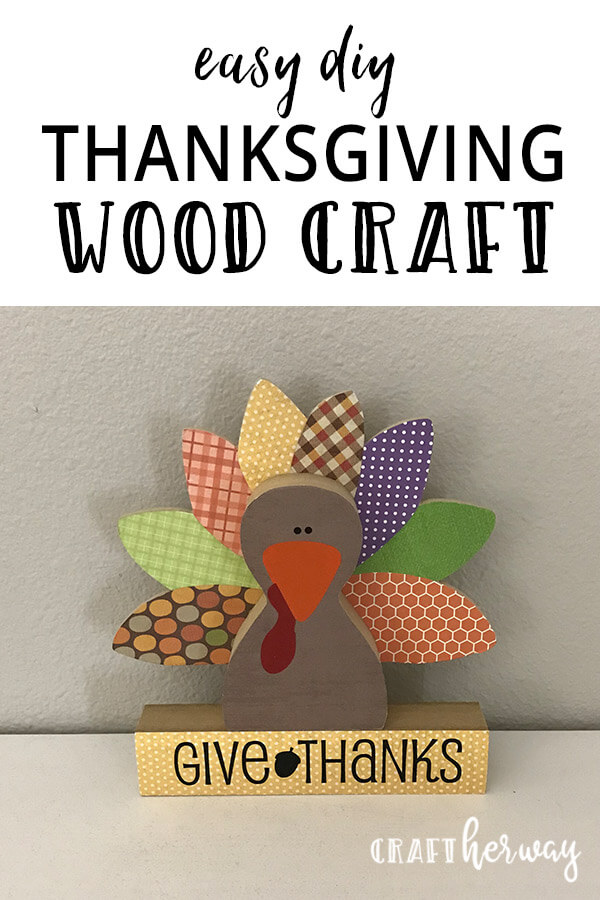 Holiday thanksgiving wood craft