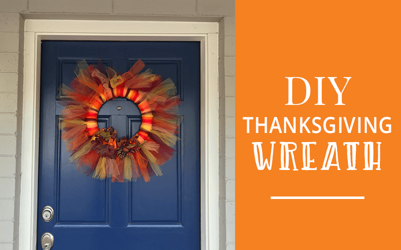 Diy tulle thanksgiving wreath