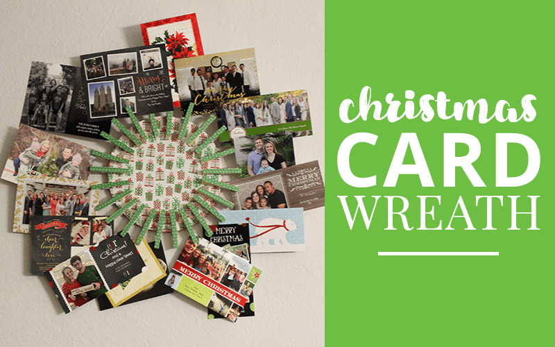Try this easy Christmas Card wreath holder #christmas #christmascards