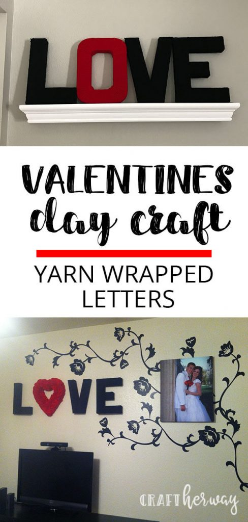 yarn wrapped love letters valentine's day
