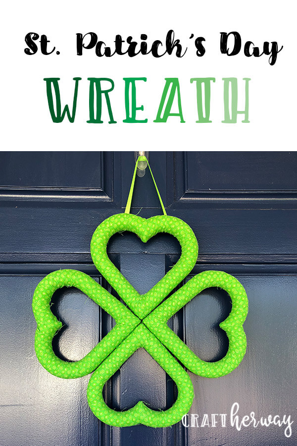 st patricks day wreath on door