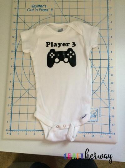 diy baby onesie gamer controller