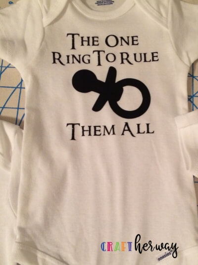 lord of the rings diy baby onesie