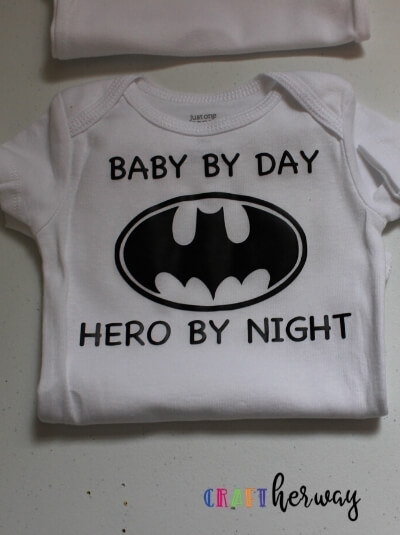 diy batman baby onesie