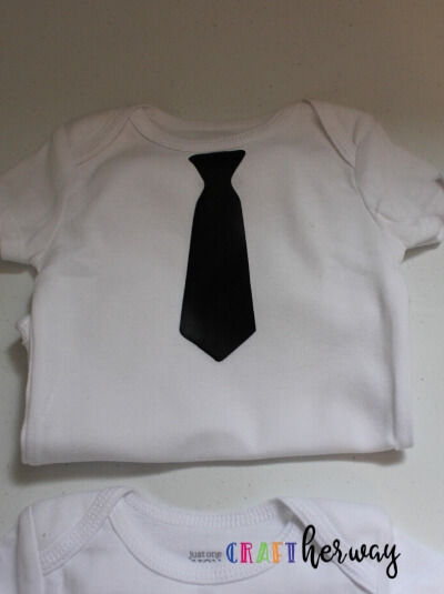 diy baby onesie little tie