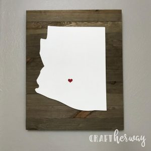 state wall art decor on wall of Arizona
