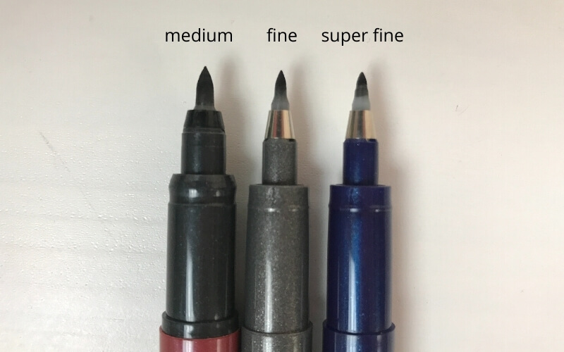Zebra fude sign brush pen 3 sizes - fine, super fine, medium brush tips