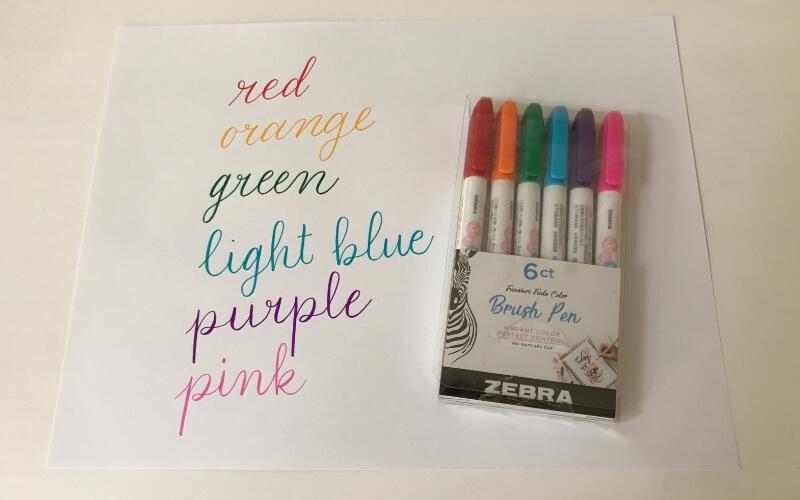 zebra funwari brush pen review 6 color pack
