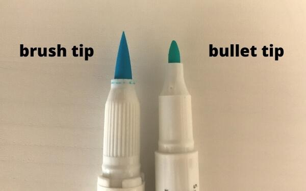 zebra mildliner brush pen review - brush tips and bullet tip