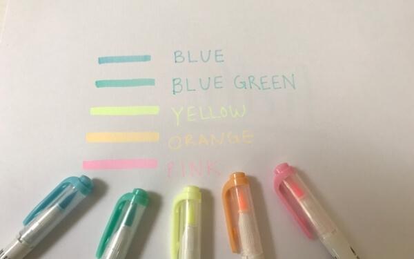 Zebra Mildliner Brush pen flourescent colors