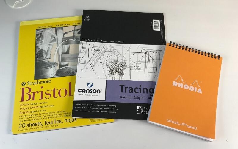 best paper for brush pens - bristol, tracing, rhodia
