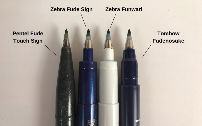 Brush tip comparison