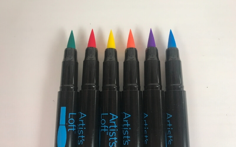 artist's loft watercolor marker brush tip